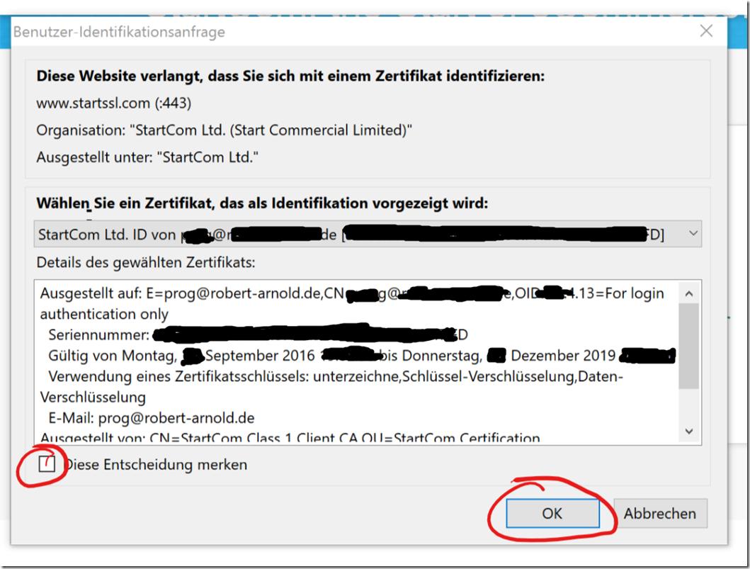 9-Client-Zertifikat zur Anmeldung verwenden