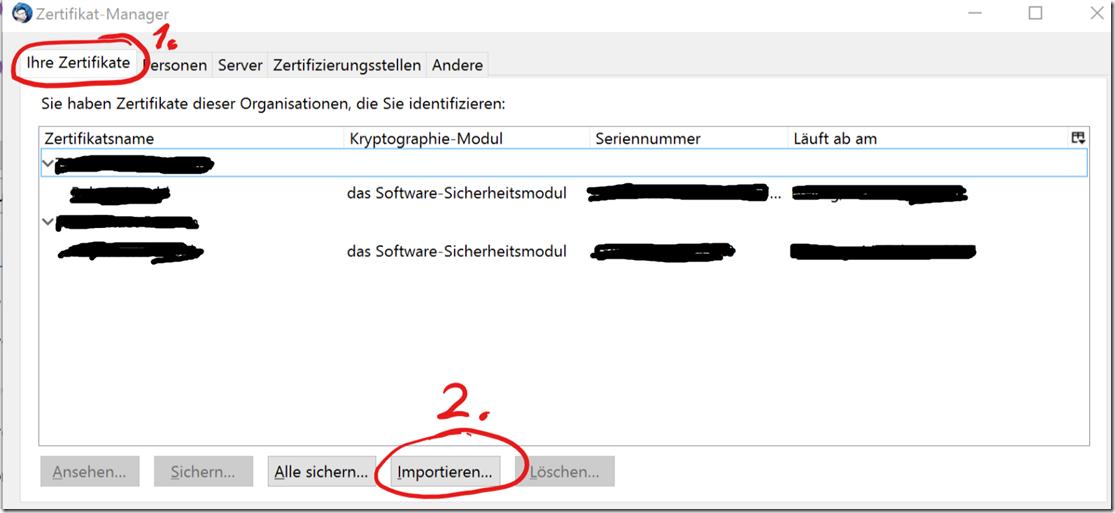 C-4-Zertifikat-importieren